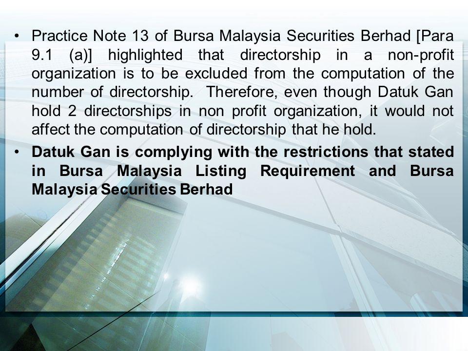 Practice Note 13 of Bursa Malaysia Securities Berhad [Para 9